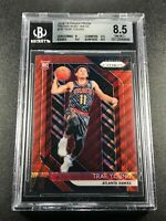 TRAE YOUNG 2018 PANINI PRIZM #78 RUBY WAVE REFRACTOR ROOKIE BGS 8.5 W/2 9.5 SUBS