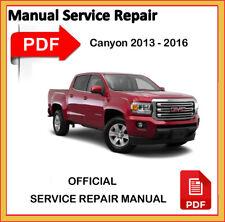 GMC Canyon 2013 2014 2015 2016 Factory Service Repair Workshop Manual