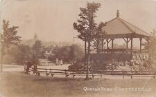 POSTCARD   DERBYSHIRE    CHESTERFIELD   Queen's  Park
