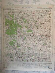 1955 OS Map GSGS War Office Bury St Edmunds Suffolk Thetford Stowmarket Diss