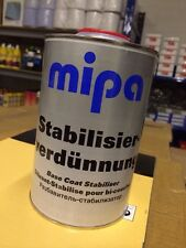 1 LITRE MIPA BASECOAT Stabiliser Stabilizer Thinner for metallic PAINT SPRAY