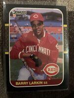 1987 Donruss #492 Barry Larkin Rookie Card Cincinnati Reds RC