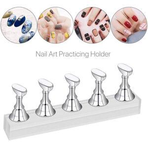 Magnetic Manicure Nail Art Practice Display Stand False Tip Holder Make Sample