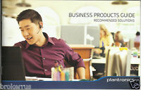 Plantronics BUSINESS PRODUCTS GUIDE catalog 2013 Headsets brochure advertisement