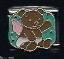 TEDDY BEAR WITH WINGS  WHOLESALE ITALIAN CHARM 9MM