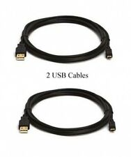 2 USB CABLES for Pentax M20 M30 M40 M50 MX MX4 P80 RS1000 RS1500 RX18 S4 S10 S12