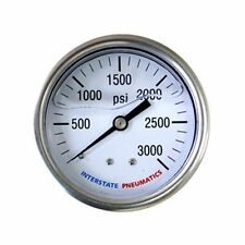 Pressure Gauge 3000 PSI 2-1/2' Dial 1/4' NPT Rear Mount Oil Filled - G7122-3000