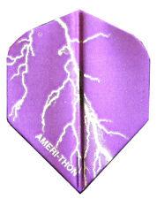 The Best Dart Flights- 5 Purple, Silver Lightning Sets
