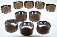 10 Solid Adjustible Band RING Base Blanks Finding Settings Brass Steampunk DIY