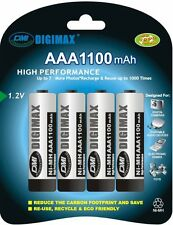 4 x Digimax Ultra High Capacity AAA LR3 UM4 1100 mAh Rechargeable Batteries SALE