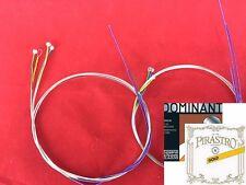 2 sets Dominant Violin String set with Gold label E Loop  End 4/4 size