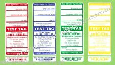 CUSTOM Electrical Test Tag Pack - All States(exc NSW) 1000 (250 x 4 colours)