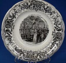 Queen Victoria State Visit Paris Exhibition Royal Commemorative Plate Antique