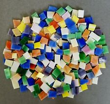 250 MIXED COLORS HANDCUT STAINED GLASS MOSAIC TILES