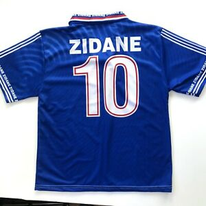 Vintage Unbranded France Zidane 10 Football Jersey Soccer Size Small