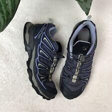 Salomon 643001 Women's Gray Gore Tex Contragrip Hiking Boots Nubuck Sz 8.5