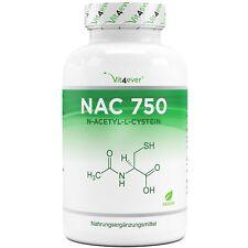 NAC - N-Acetyl L-Cystein 180 Kapseln je 750 mg - Hochdosiert + Vegan 6 Monate