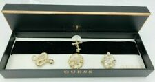 GUESS Gold-tone Interchangeable Pin Velvet Choker Necklace Q302