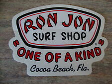 RON JON Surf Shop Decal/Sticker Cocoa Beach, Florida COOL!