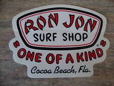 RON JON Surf Shop Decal/Sticker Cocoa Beach, Florida COOL!