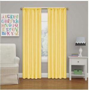 Eclipse Lemon Rod Pocket Blackout Curtain - 42 in. W x 84 in. L ( Single Panel)