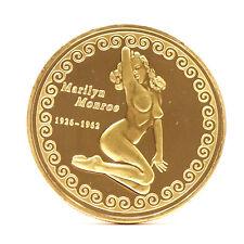 Medaglia copia moneta celebrativa Marilyn Monroe 1926-1962 diametro 4cm