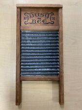 Vintage Busy Bee No 16. 2-sided Washboard, Antique, Laundry room Decor, Wood
