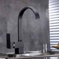 360° Küchenarmatur Wasserhahn Küche Spültischarmatur Schwarz Mischbatterie Bad