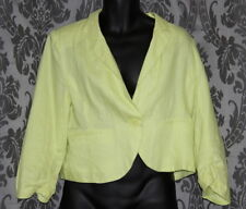 Womens size 16 yellow linen jacket made by HOT OPTIONS - Target