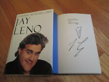 """Tonight Show Host JAY LENO signed """"LEADING WITH MY CHIN"""" Book w/ DRAWING"""
