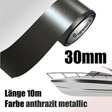 ZIERSTREIFEN 10m ANTHRAZIT METALLIC 30mm Auto Boot Jetski Modellbau Vinyl