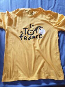 Le Tour De France Mens Yellow Cycling Short Sleeve T-Shirt - Size S / M