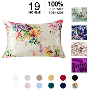 100% Pure Mulberry Silk Pillowcase for Hair and Skin home bedding Zipper  Covers