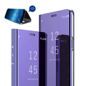 Thin Clear View Case for Hauwei Y9 2018 360° Full Cover Mirror Flip Stand Wallet