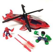 MARVEL COMICS SUPERHÉROE escuadrón helicóptero de captura de Spiderman Vs Hulk Figuras