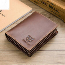 Mens Wallet Leather Credit Card Holder Case Purse Rfid Blocking Extra Capacity
