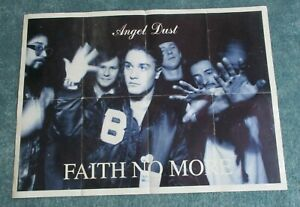 """Faith no More poster Angel Dust , 1992,  approx 25"""" x 34 1/2"""", folded"""