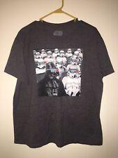 Star Wars Gray Strom Troppers Darth Vader Men's T Shirt Sz XL