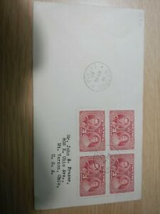 Canada 1937 Airmail Letter - Block of 4 x 3c (Royal Visit) stamps