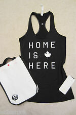 Lululemon CRB Cool Racerback Tank Canada Black 'Home is Here' 4 10 12