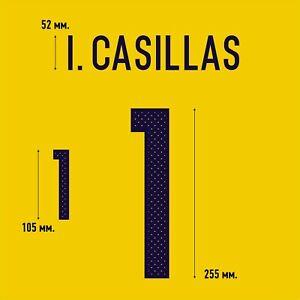 Casillas 1. Spain Goalkeeper football shirt 2016 - 2017 FLEX NAMESET NAME SET