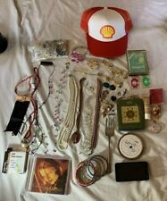 Junk Drawer Lot Jewelry Cell Phone Misc