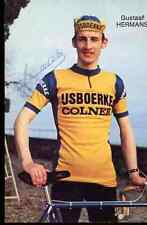 GUSTAAF HERMANS Team ISJBOERKE COLNER Signed Autograph cycling dédicace cyclisme