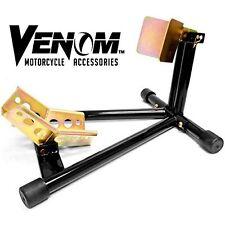Venom Universal Motorcycle Wheel Tire Chock Self Locking New Free Shipping USA