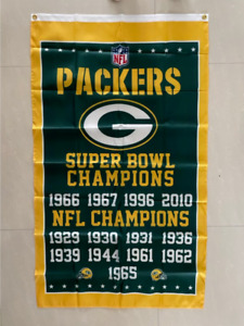 Green Bay Packers Super Bowl Champions Flag 3ft x 5ft Football NFL Banner