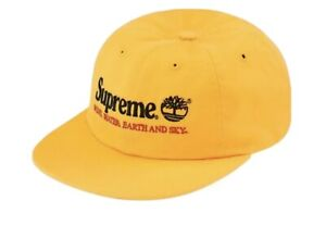 Supreme Timberland 6 Panel Hat YELLOW One Size  SS20 BRAND NEW!