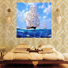5D DIY Diamond Embroidery Sailing Ship Boat Painting Cross Stitch Home Decor