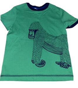 Hanna Andersson Boys Green Gorilla Tee Size 120 6-7 NWT