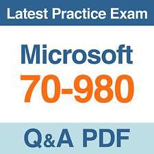 Microsoft Recertification for MCSE Practice Test 70-980 Exam Q&A PDF