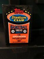 1992-93 Topps Stadium Club Series 2  Wax Pack (Michael Jordan #210 ON BACK)